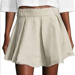 IRO Grey linen mini skirt